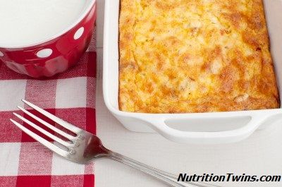Egg Breakfast Casserole | Satisfying Carbs, Protein& VEGGIES for less than 200 calories | NO HUNGER till lunch | NutritionTwins.com