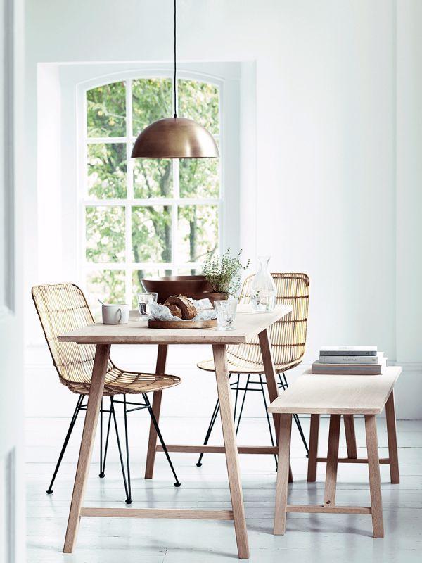 Flat Rattan Dining Chair Natural Rattan Dining Chairs Scandi Dining Table Comfortable Dining Chairs