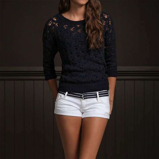 Hollister Co. Bettys Sweaters Emma Wood Navy