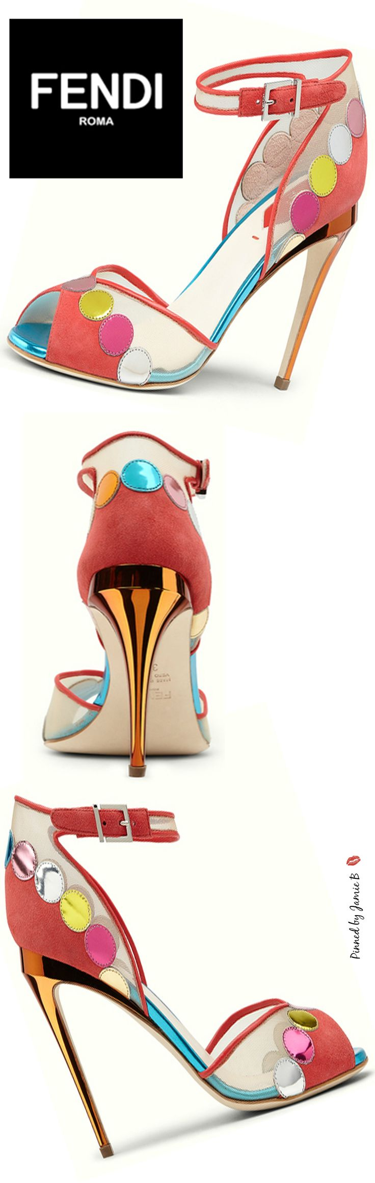 Fendi | Multi-Colour Sandals | Jamie B