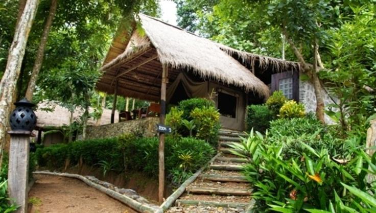 De grandes tentes de safari au coeur des rizières du Nord du #Laos ► Kamu Lodge