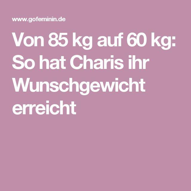 Von 85 kg auf 60 kg: So hat Charis ihr Wunschgewicht erreicht