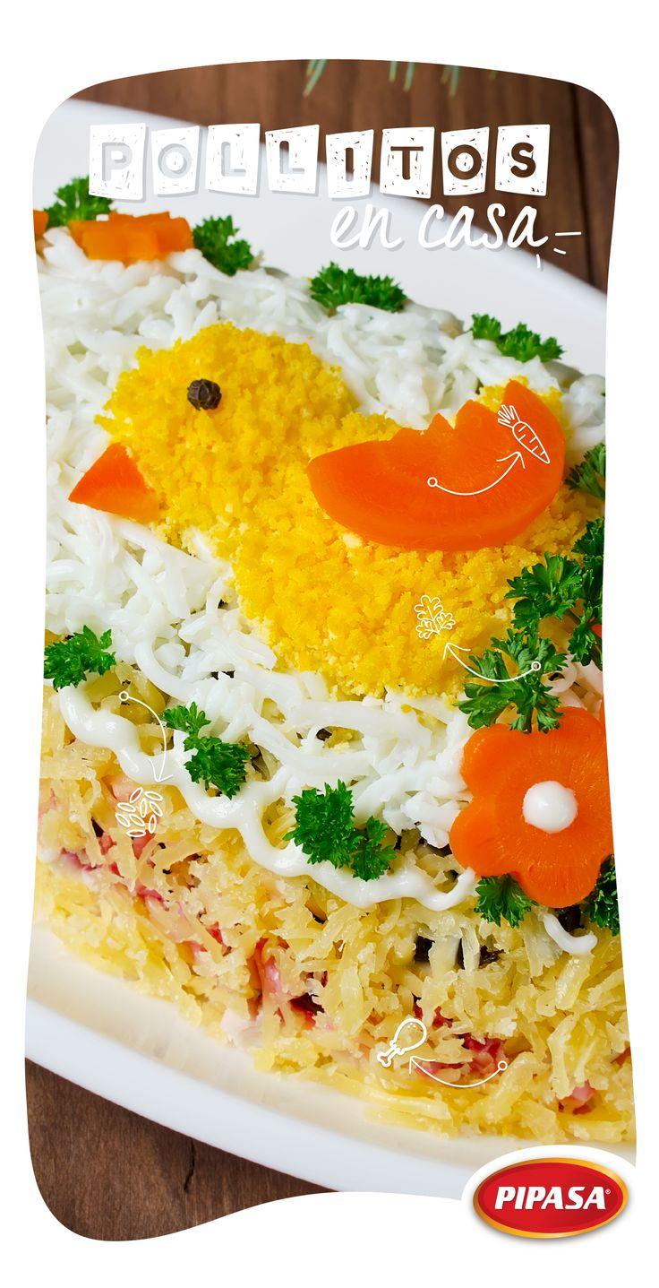 Ingredientes decoración arroz con pollo: - Arroz amarillo para el pollito - Zanahoria para el pico - Culantro para el zacate