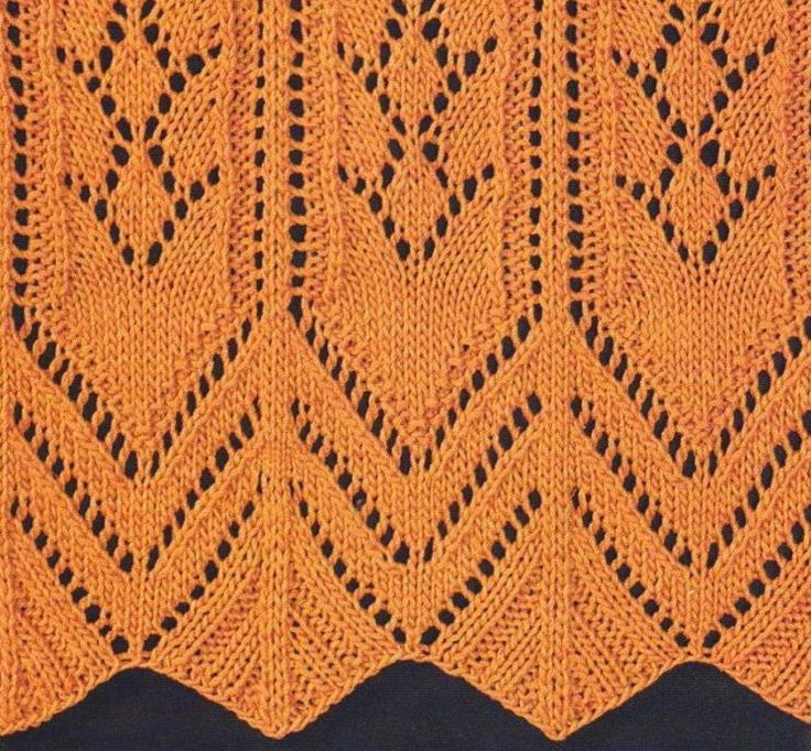 Lace with edging detail- charted