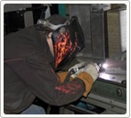 Welding Department  80 KVA PROGRAMABLE AMADA SPOTWELDER 30 KVA SPOT-WELDER 100 AMP SP100 LINCOLN MIG WELDER 250 AMP MILLER SYNCROWAVE WELDER 300 AMP ES-AB TIG WELDER 4 - 300 AMP MILLER SQUARE WAVE WELDER'S MILLER 250 AMP SYNCROWAVE TIG WELDER  http://www.dynamicsheetmetal.com