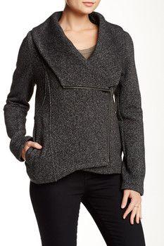 Sebby Asymmetrical Fleece Jacket
