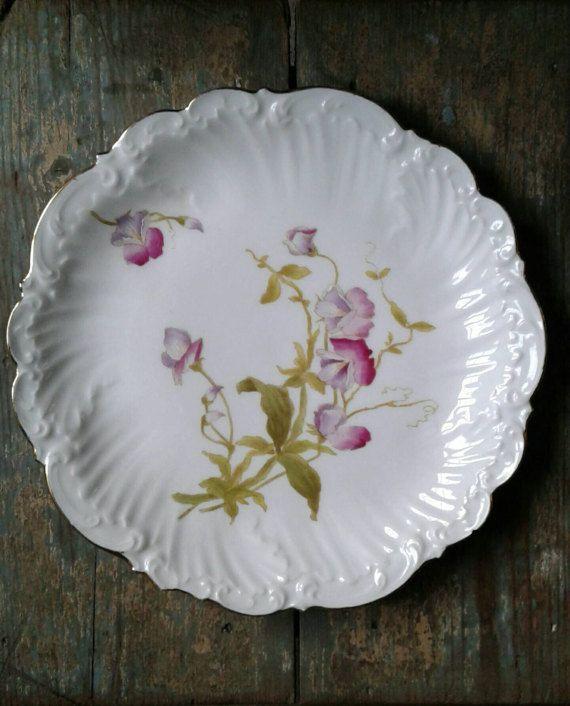 Vintage cake plate. Limoges serving platter. by LittleBeanAndCo