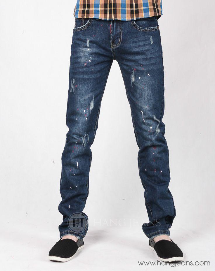 Hằng Jeans - Quần jeans rách vẩy sơn 15T1215