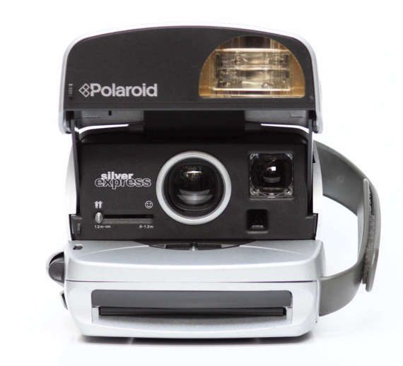 Polaroid Silver Express Instant 600 Film Camera by LePhotographeNY
