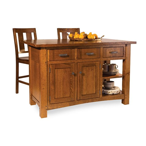 Brunswick Island   Amish Tables   1 Choose Your Wood, Size And Stain!