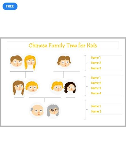 This Chinese Family Tree Template For Kids Is Available Now Keep Track Of Your History With The Help File