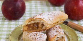 Rolls de manzana con queso crema ¡Ñomi!