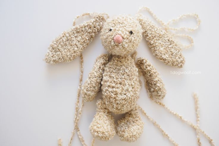 soft and squishy easter bunny in pieces