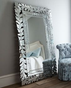 Venetian Floor Mirror Vintage Gorgeous Bedroom Or Living Room Romantic