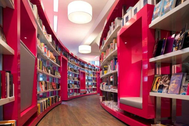 Pink Book Store Interior Design Ideas by CUBE Architects