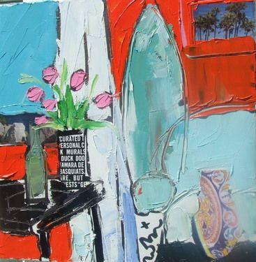 "Saatchi+Online+Artist+Robin+Hiers;+Painting,+""Cool+Beach+House""+#art"