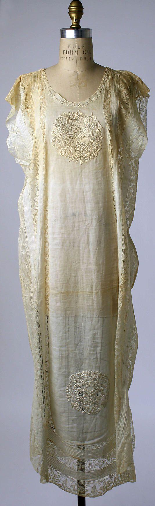 nightgown, boué soeurs  (french), 1919