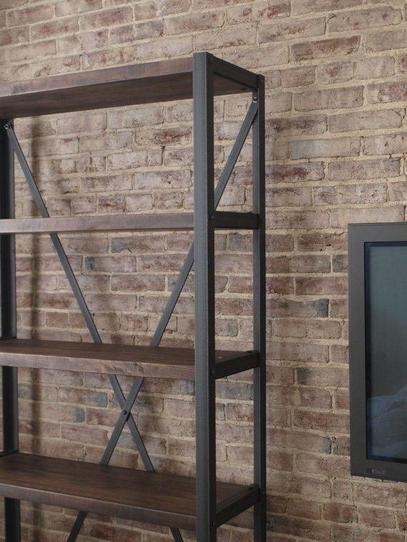 """Engineers Industrial Bookcase by Campos Iron Works  Built To Your Specs  $900 for 83"""""""
