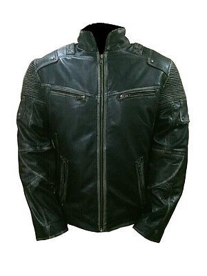 Mens Biker Style Vintage Motorcycle Retro 5 Distressed Leather Jacket is very best jacket and its new arrival antique look zipper pockets and cuffs also front closure is zipper with stand collar this biker jacket has lots of feelings during ride and street walks its made in real leather. We ship all over the world fast shipping.The jacket is price is reasonable and also its shipping cost. So Book your order Now!