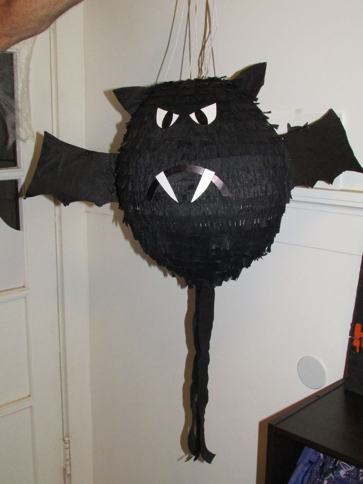 Homemade Bat Pinata October Holiday Club Halloween