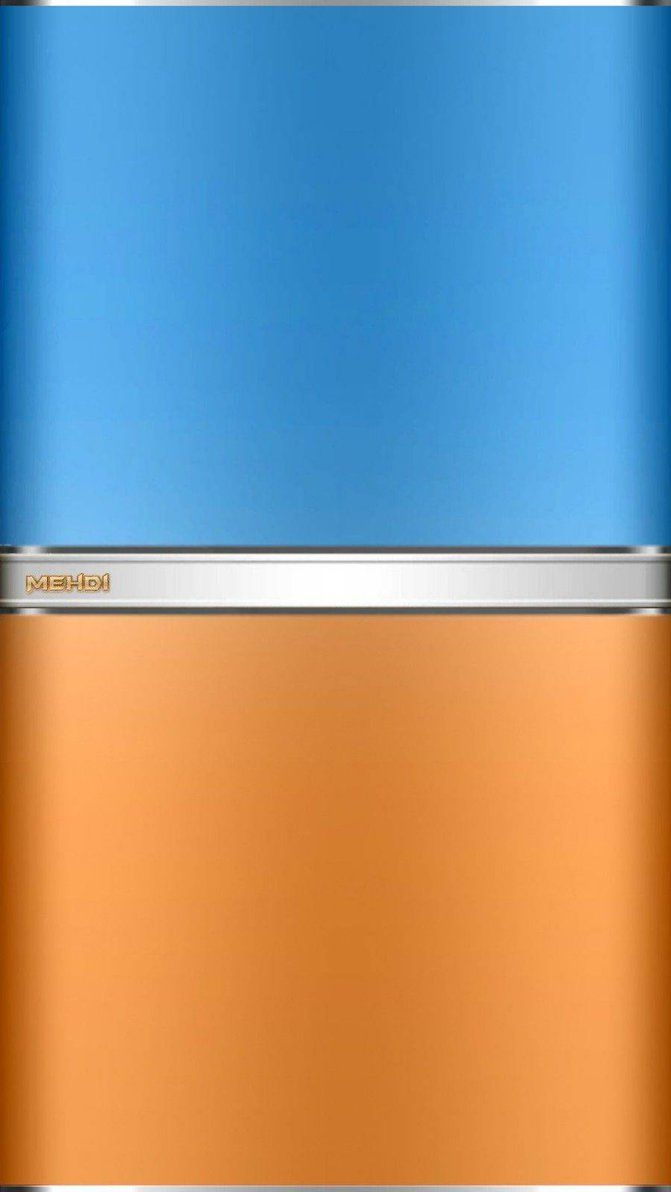 Blue Orange phone background by mehdidiv1