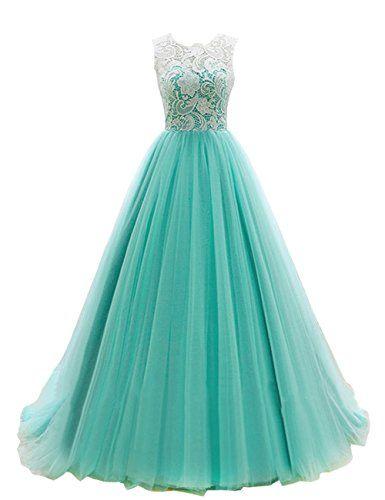 BARGAIN-NET EZYBUY (USA): Apparel: Dresstells® Women's Long Tulle Prom Dress Dance Bridesmadi Gown with Lace