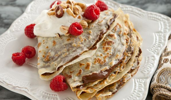 Chocolate Hazelnut Crêpes - In the Kitchen with Stefano Faita