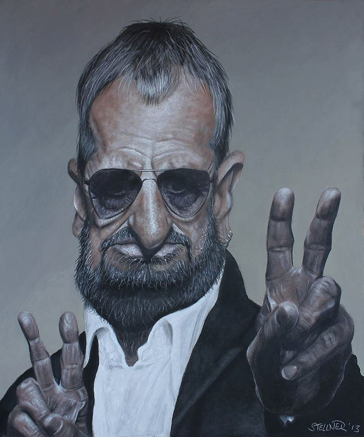 Ringo Starr (Caricature) http://dunway.com/.             For more great pins go to @KaseyBelleFox