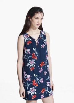 Cord floral dress