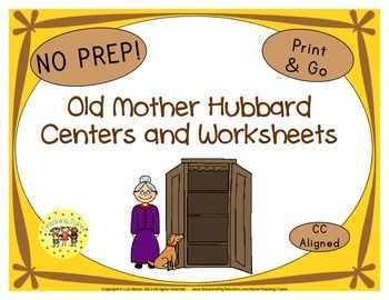 LOOK WHAT'S BEEN ADDED Old Mother Hubbard Poster in Color Old Mother Hubbard Poster in B/W Old Mother Hubbard Sequencing Cards Old Mother Hubbard Read. Trace. Color. Old Mother Hubbard Word Search Old Mother Hubbard Coloring Sheet Plus, new images! ****************************************** My Old Mother Hubbard Packet contains: Reading Center Book List Art Center Project Writing Center Activity Computer Center Websites Friday Activity AND 9 worksheets