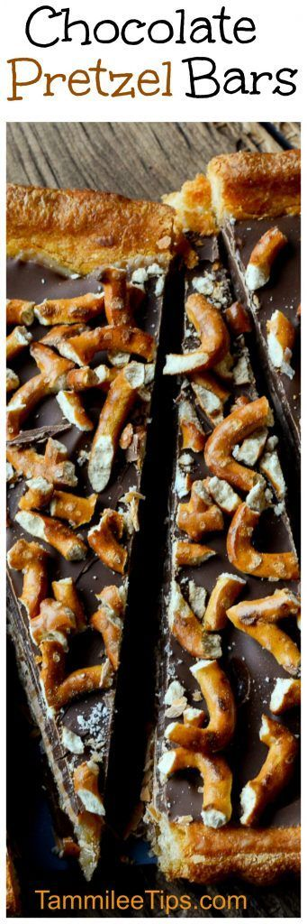 Easy Delicious Chocolate Pretzel Bars Recipe is the perfect sweet and salty treat! Everyone will love this decadent chocolate desserts recipes!  This cookie bar recipe includes chocolate, pretzels, coconut and so much more! So delicious! The perfect sweet