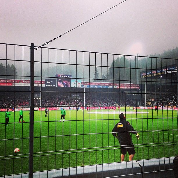 SC Freiburg, Freiburg's soccer team, plays in the Schwarzwald-Stadion, a stadium nestled in the Black Forest but accessible to the city. The stadium is also extremely environmentally friendly and uses photovoltaic lights. Going to a soccer game was one of the highlights of my time in Germany! (Mimi Bair, '16)