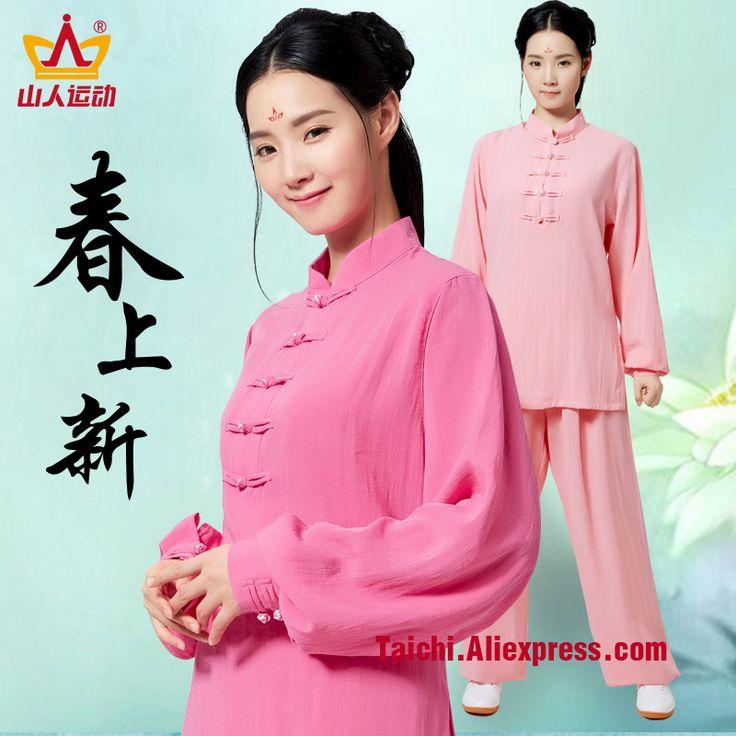 Flax and Cotton Female Handmade Linen Tai Chi Uniform Wushu Kung Fu martial art Suit  Chinese Stlye Sportswear Jacket Pants