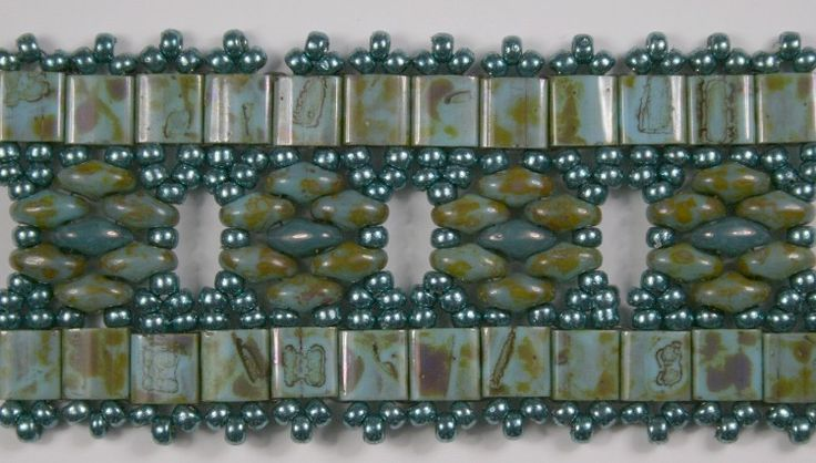 Deb Roberti's Tila Flower Band bracelet done with Miyuki's new Picasso Tilas