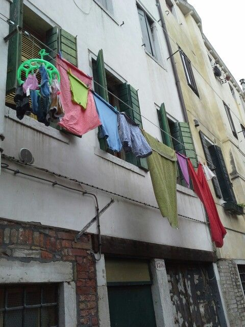 Laundry day in Venice, Italy by Pat Johnson