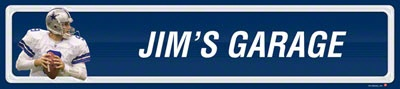 Dallas Cowboys Player Personalized Room Sign