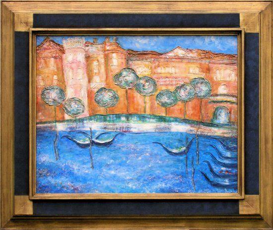 Painting Venician Harbour