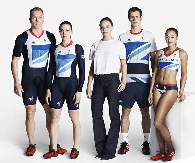 Official British Olympic Union Jack team strip by Stella McCartney - NOT ENOUGH RED!