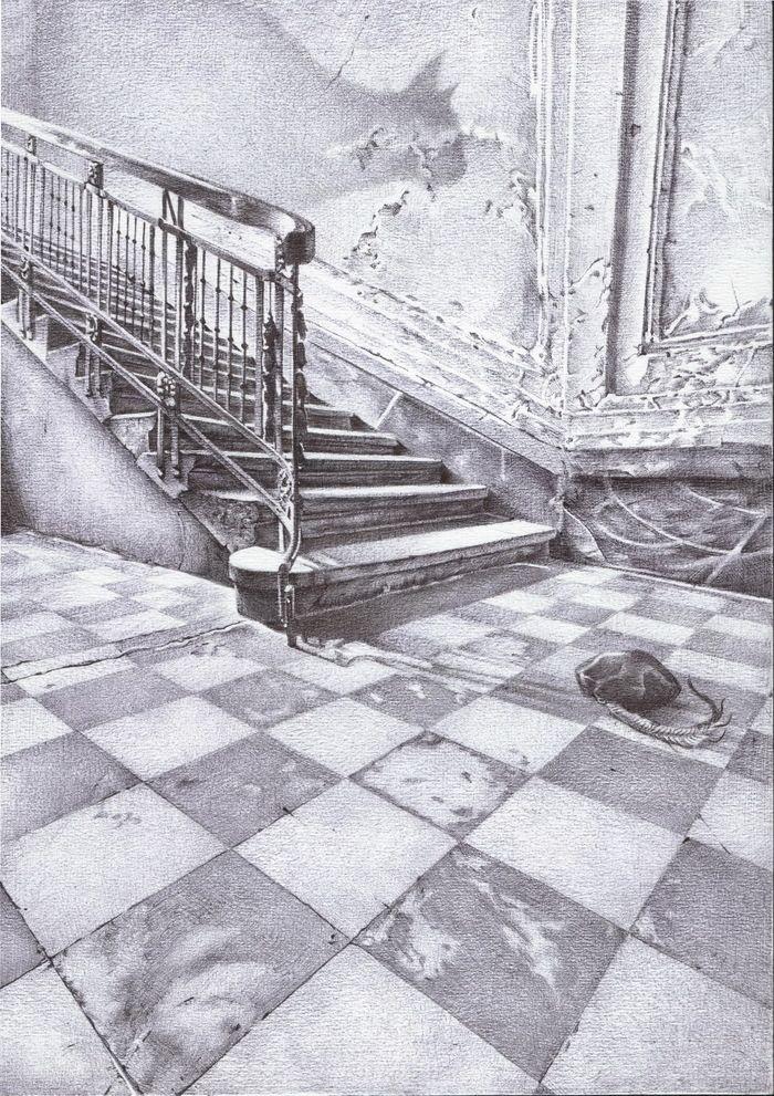 """Rostislav Popsky illustration for """"The Master and Margarita""""."""