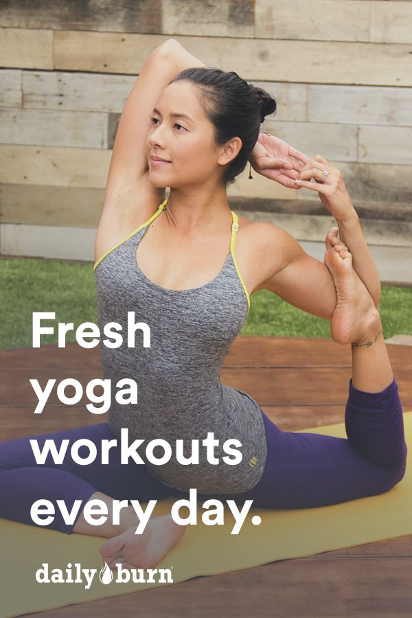 Practice Yoga at home with DailyBurn. Start your 30-day free trial today and stream Yoga videos to your favorite device, any time, any where.