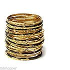 NWT $120 Amrita Singh Gorgeous 30 Bangle Fashion Bracelets Gold Black Stackable - http://designerjewelrygalleria.com/amrita-singh/amrita-singh-bracelets/nwt-120-amrita-singh-gorgeous-30-bangle-fashion-bracelets-gold-black-stackable-2/