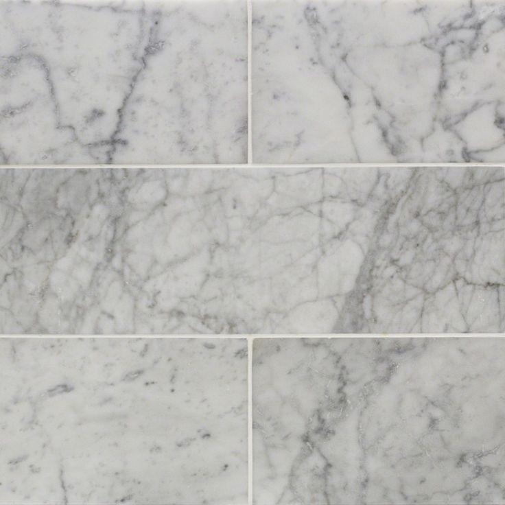 Zenith Carrara 6x18 Honed Marble Tile | TileBar.com