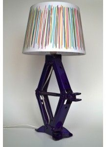 Car jack lamp Car jack welded, trimmed, sandblasted and powder coated with purple starbright finish. Was an OEM equipment for Honda cars. Height 47cm ,cord length: 140cm, bulb E14 max.40W, 220V. Available at www.custom-engine-tables.ro