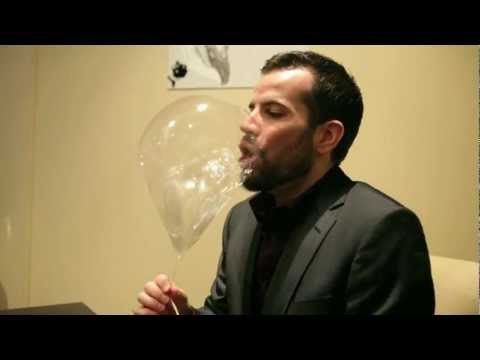 Augustus Gloomp will rejoice – we're getting closer to a Wonka-like-world. Take, for instance, this edible balloon developed at Chicago's Alinea restaurant. The balloon tastes of green apple and is filled with flavored helium you can inhale. #word