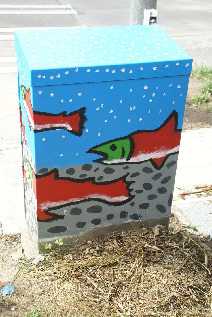 Salmon Sockeye.  Completed mural at