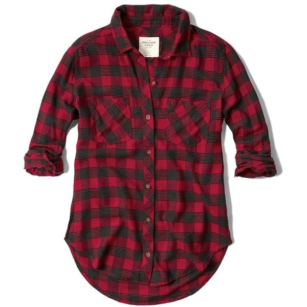 Abercrombie & Fitch Plaid Flannel Shirt found on Polyvore