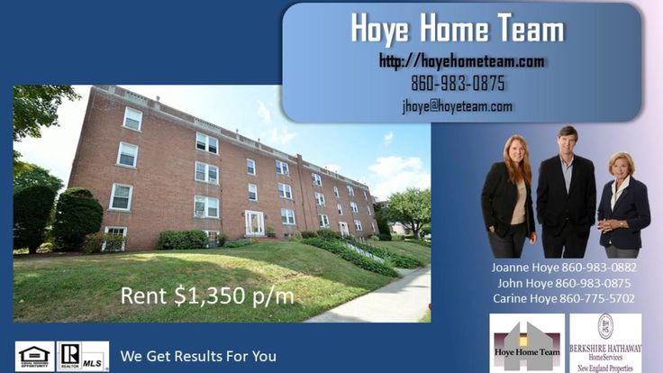 West Hartford Center Rent 2 beds 1 Bath 1 Car Call HoyeHomeTeam- John Hoye 860-983-0875  https://gp1pro.com/USA/CT/Hartford/West_Hartford/West_Hartford_Center/5A_Robin_Road_West_Hartford_CT_06119.html  West Hartford Center Rent 2 beds 1 Bath 1 Car Call HoyeHomeTeam- John Hoye 860-983-0875-Brick building overlooking Blue Back Square & Whole Foods, walk to w. Htfd. Center. 2nd floor unit w/2 bedrooms, 1 bath, high ceilings, updated eat-in kitchen w/balcony, hardwood flrs, fireplace living…