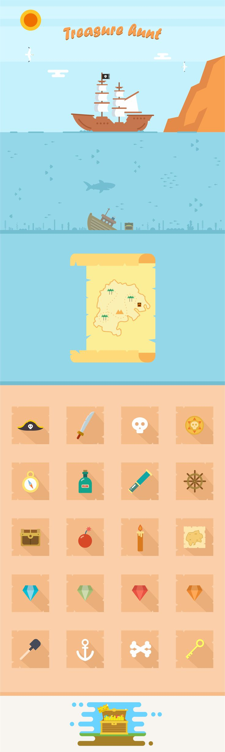 """Check out this @Behance project: """"Treasure hunt"""" https://www.behance.net/gallery/33164695/Treasure-hunt"""