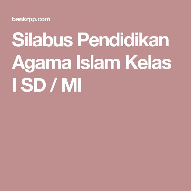 Silabus Pendidikan Agama Islam Kelas I SD / MI