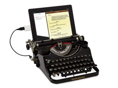 usb typewriter for those who just can't give up the click clack